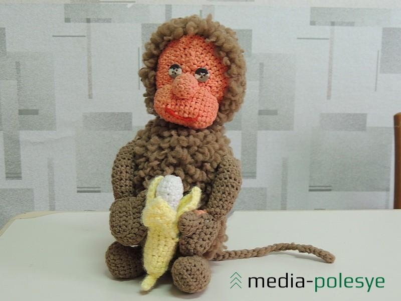 Эту обезьянку сделала педагог Т. А. Волонцевич