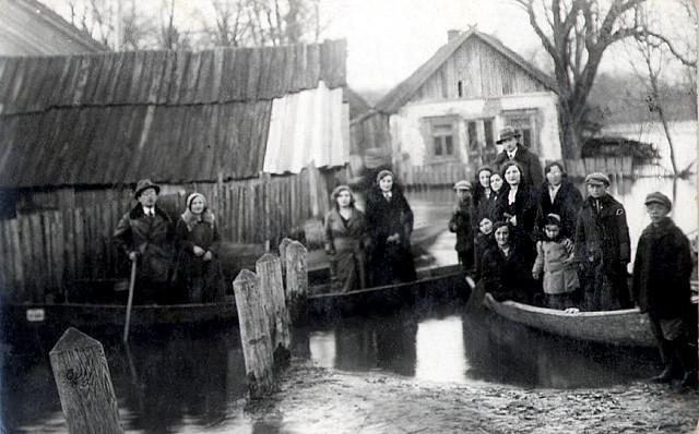 Паводок в Давид-Городке, 30-е года ХХ столетия