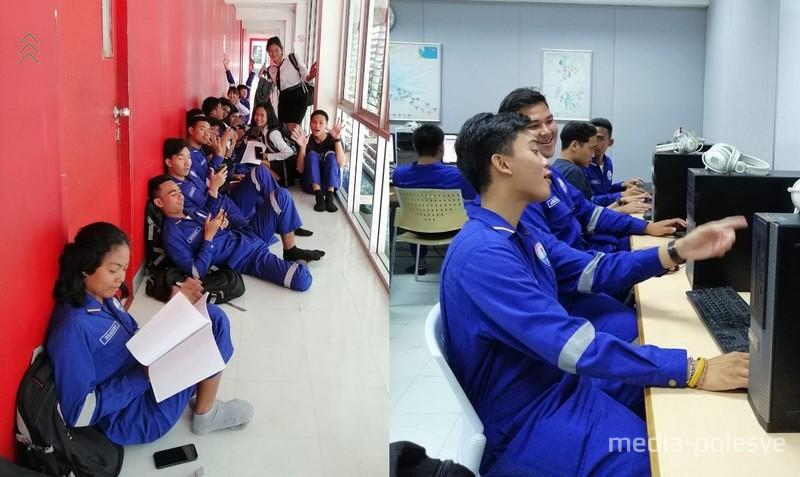 Студенты факультета нефтедобычи, где Анна преподает английский язык