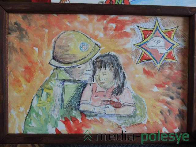 Рисунок «Мужественная профессия» Евгении Прус из Вороней.