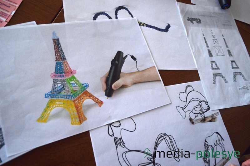 Также 3D-ручкой можно «нарисовать» Эйфелеву башню