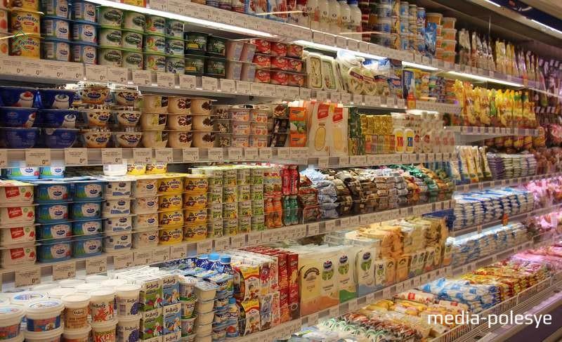 Широкий выбор молочной продукции