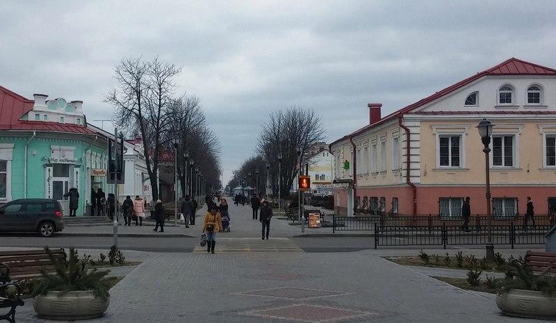 Вид на современную улицу Первомайскую