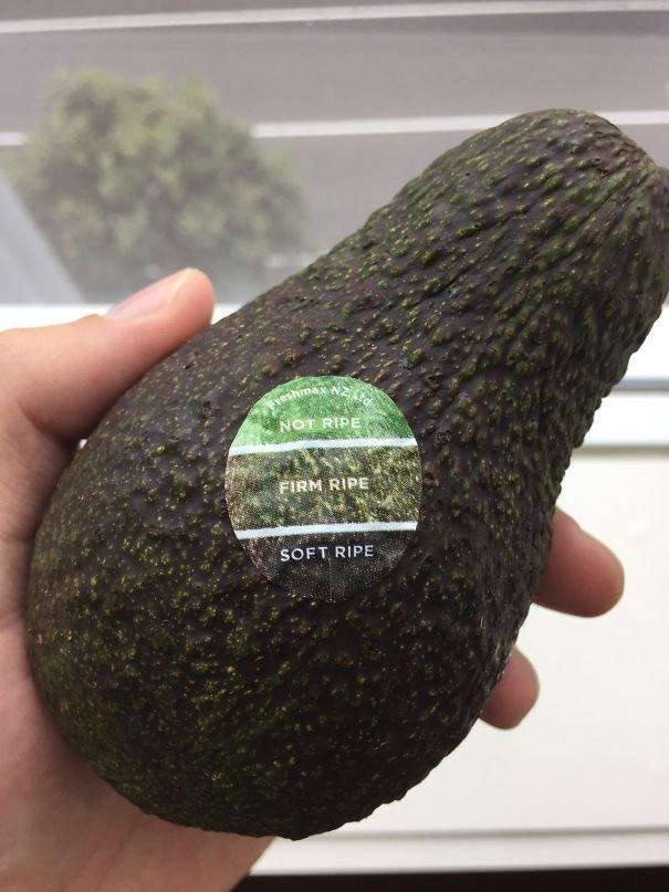 Наклейка спелости фрукта