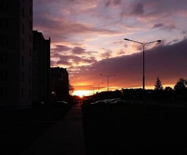 #belarus #sunset #town #luninets #лунинец #город #закат #Беларусь