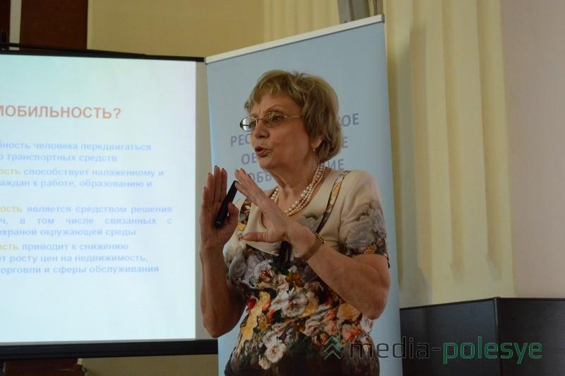 Представитель ПроООН Валентина Леончик призывает Пинск присоединиться к Европейской неделе мобильности