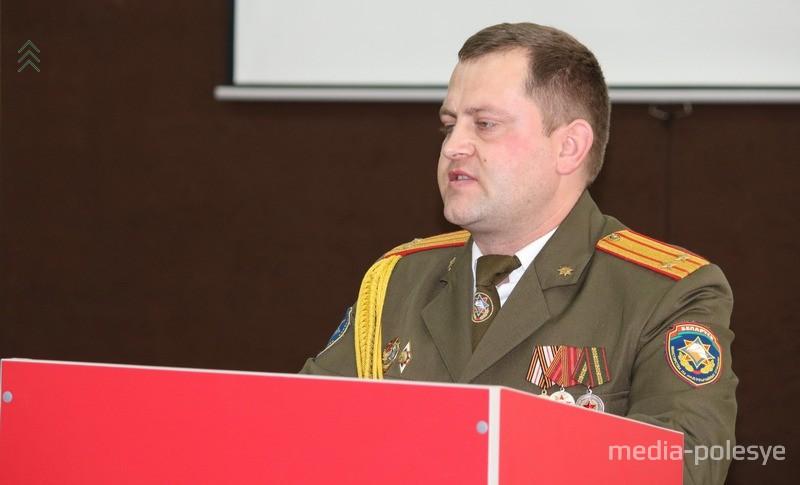 Начальник Столинского РОЧС Александр Минчик