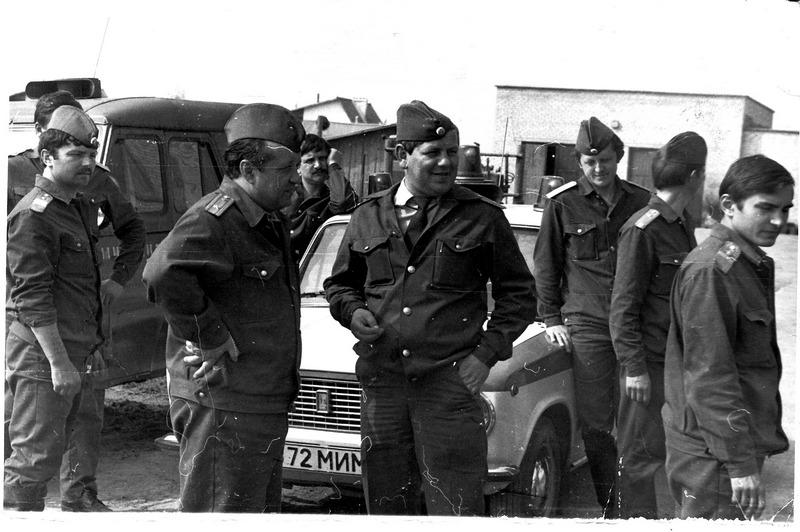 1987 год (Николай Пуш крайний слева)