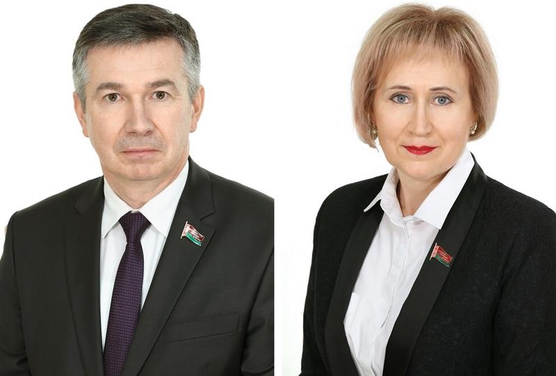 Александр Омельянюк. Фото house.gov.by. Валентина Бегеба. Фото house.gov.by