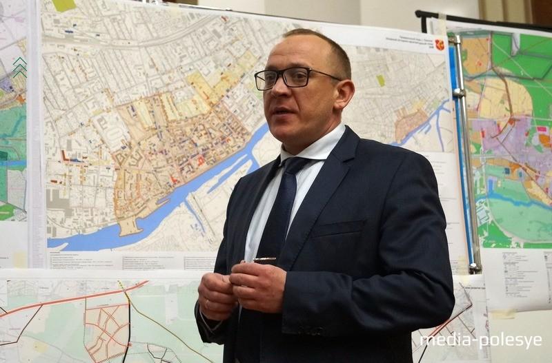 Андрей Мулярчик на презентации генерального плана Пинска