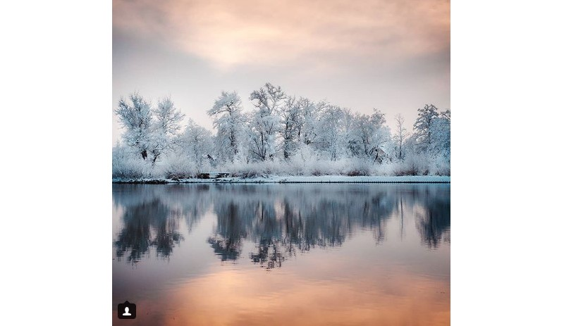 #forest #river #sky #winter #snow #frost #mirror #nature #belarus #water
