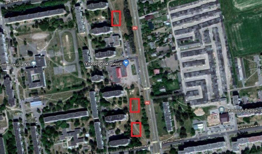 Выделены примерные места, где будут возведены многоэтажки, использованы гугл-карты