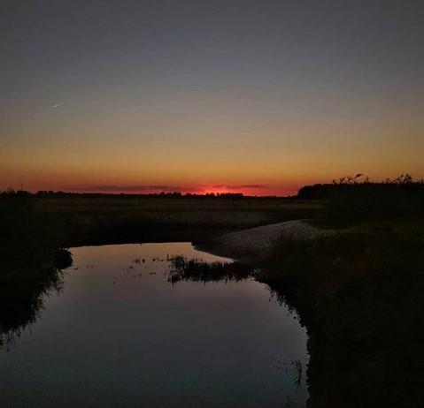 Закат на Полесье