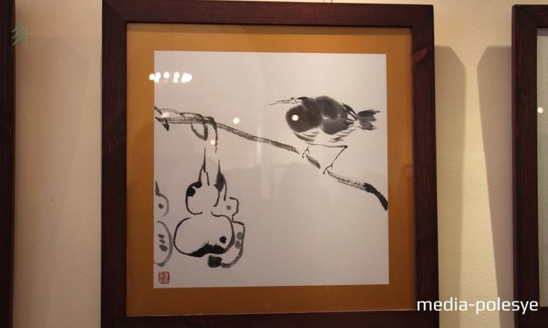 Цветы и птицы художника Ху Цинсюэ