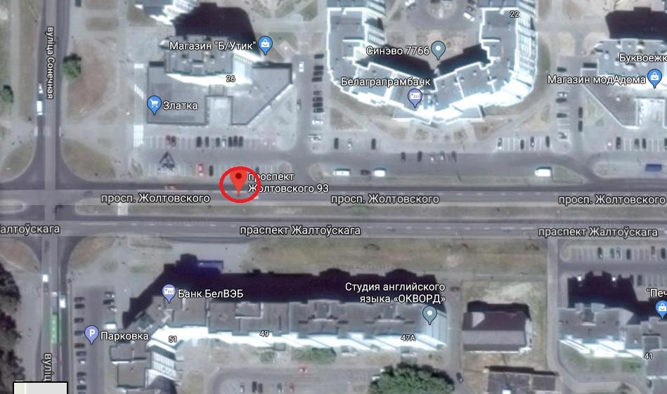 Примерное место ДТП, использованы гугл-карты
