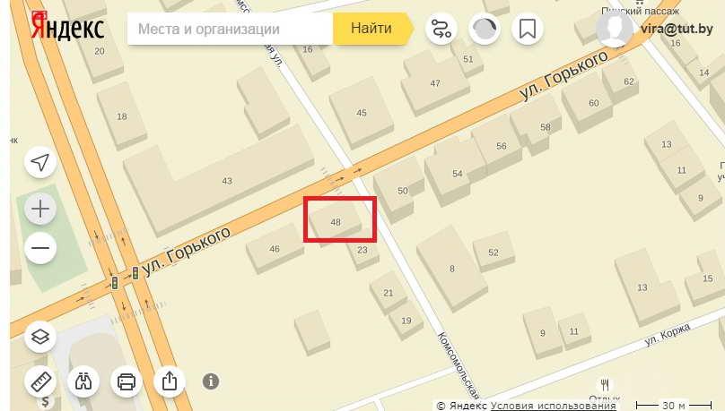 Локация новостройки. Использованы карты Яндекс