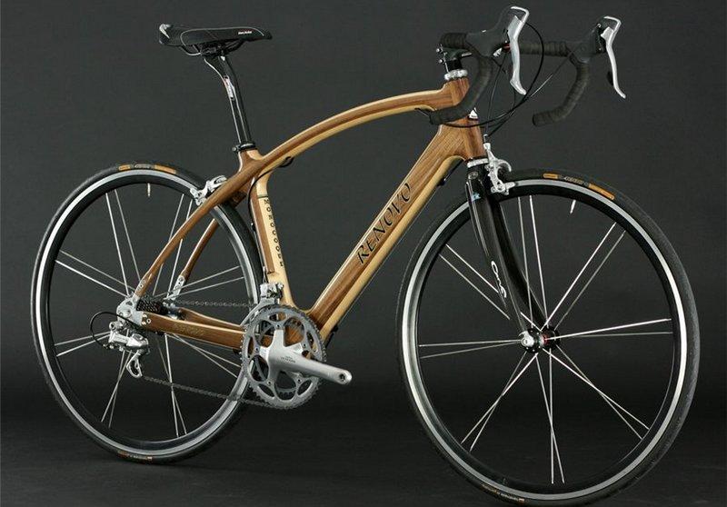 Американские высокотехнологические велосипеды с рамой из дерева могут стоить более 4600 долларов. (фото http://alkatrion.com)