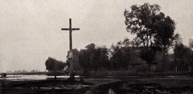 Крыж у Тупчыцах, 1934 год, фота Луізы Бойд