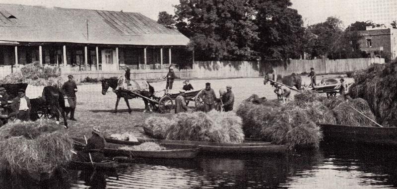 Пінск. Гандаль сенам паблізу гарадскога парка, 1934 год, фота Луізы Бойд
