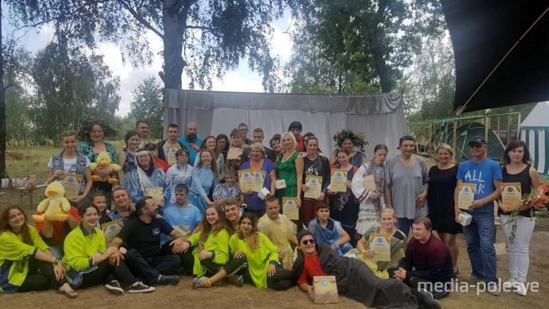Участники лагеря в последний день его работы