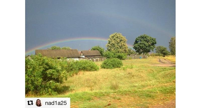 #вясёлка #радуга #лунинец #лунiнец #беларусь #природа #nature #rainbow #belarus #luninets