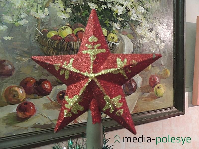 Фрагмент выставки новогодних игрушек в Столинском районном краеведческом музее прошлых лет