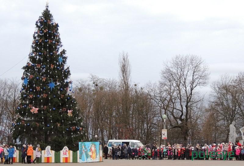 Главную ёлку района в 2014 году открыли 23 декабря