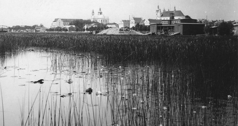 Вид на город со стороны реки, 1920–1937