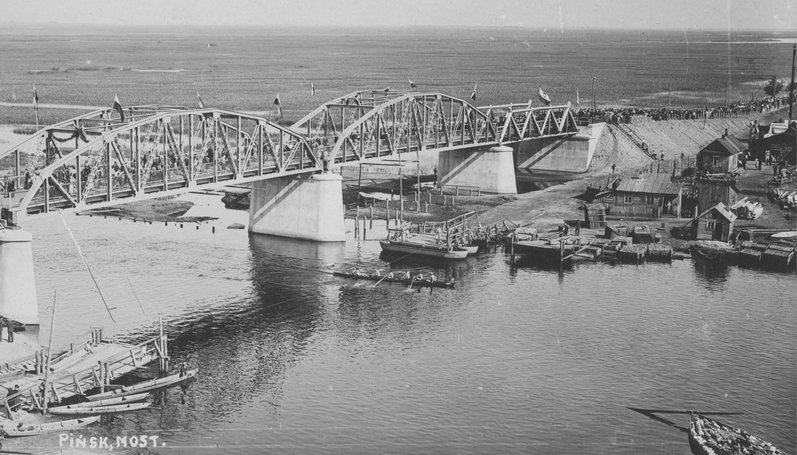 Церемония открытия моста через Пину, 1932