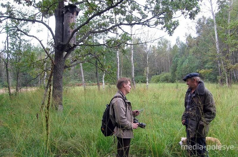 Беседа с бортником в лесу у деревни Еловая Ивацевичского района.