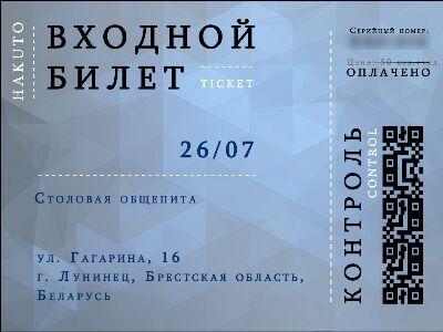 На мероприятие – по такому билету