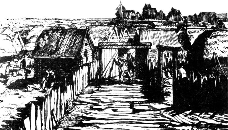 Улица в средневековом Пинске