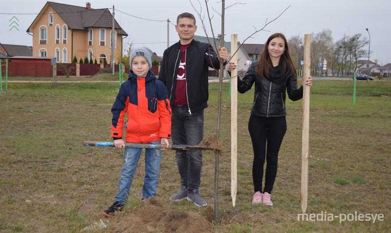 Кристина и Андрей Сысовы с сыном Кириллом
