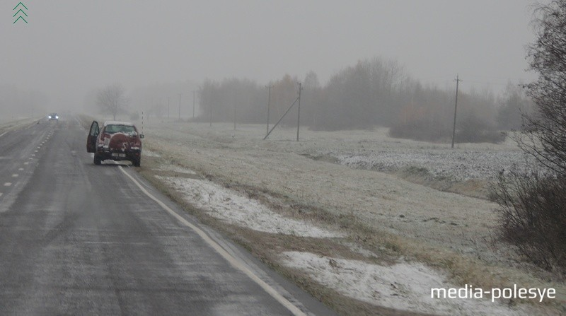 Зима близко: первый снег выпал на Столинщине сегодня