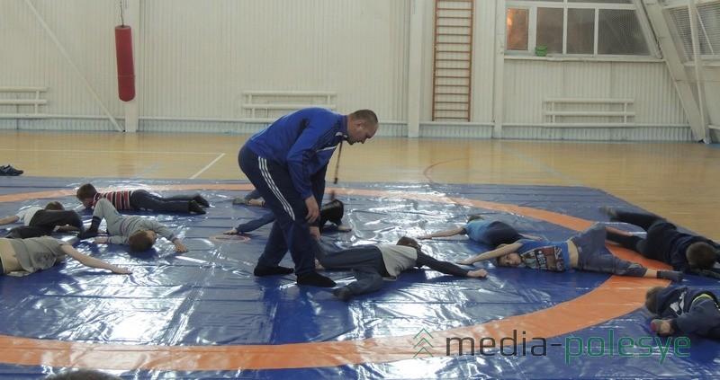 Во время занятий с детьми в РФСК