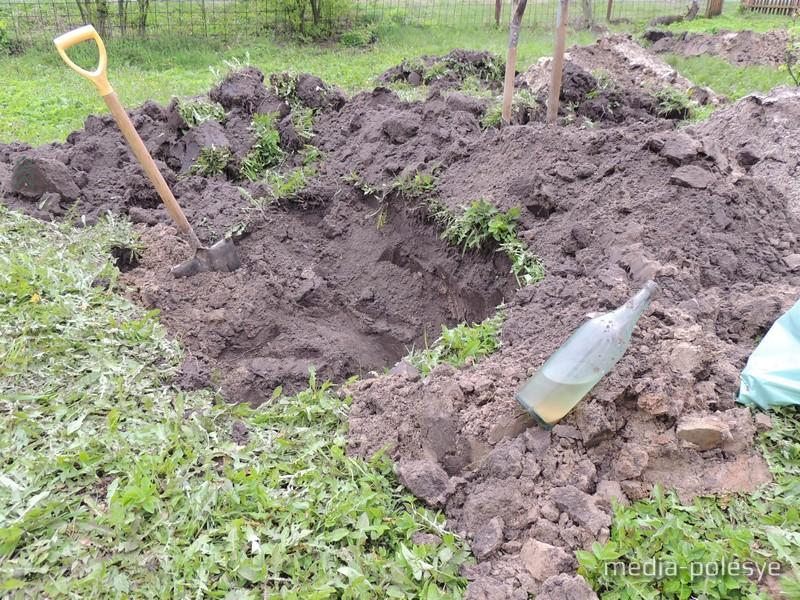 Останки погибших захоронены не очень глубоко