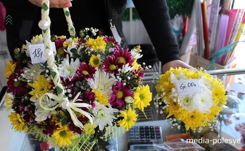Цветы в форме сердец: слева - 18 рублей, справа – 5 рублей