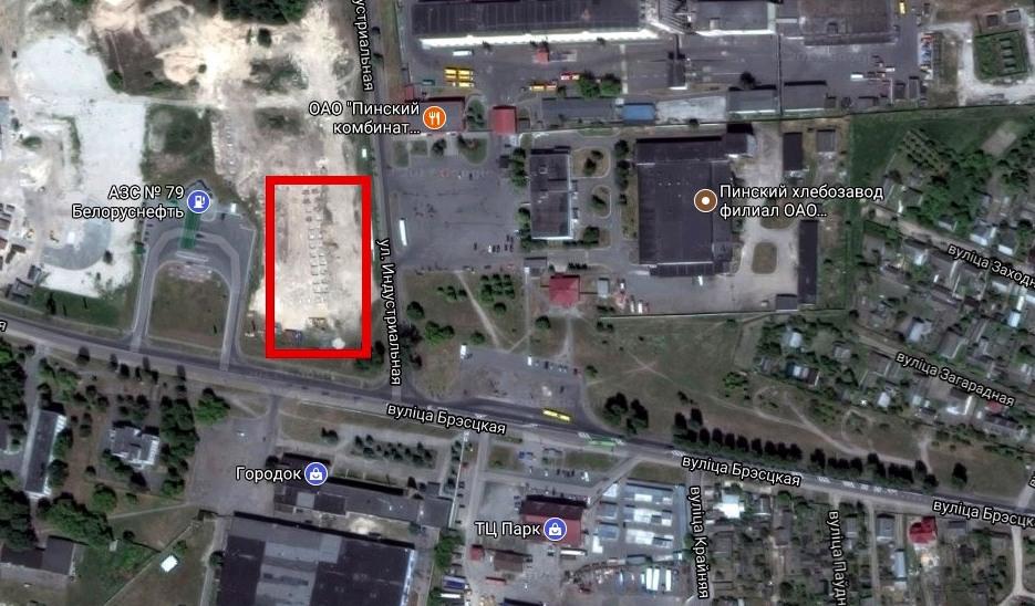 Место расположения строительного супермаркета,  использованы гугл-карты