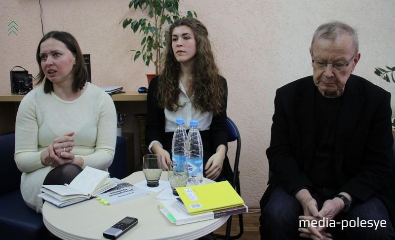 Мартин Поллак (справа), слева Вера Дзядок – перевела его книгу на белорусский язык