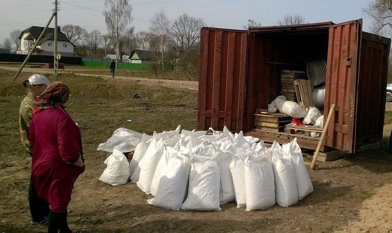 Склад с маком в одной из деревень Узденского района, фото МВД