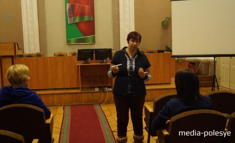 Татьяна Хвагина во время начала курсов в феврале 2017 года