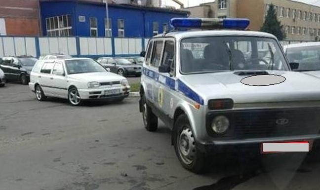 В Пинске автомобиль милиции попал в ДТП