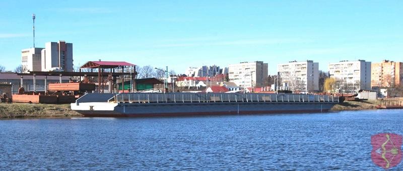 Наплавной мост уже в Пинске. Фото Пинского ГИК