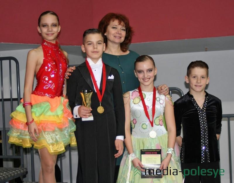Призёры с педагогом Светланой Галка