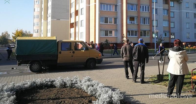 На улице Красной в Лунинце столкнулись грузовой «Фольксваген» и «Форд»