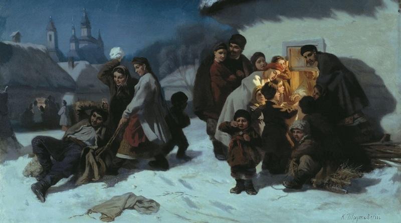 Коляда в ХIХ века, иллюстрационный рисунок