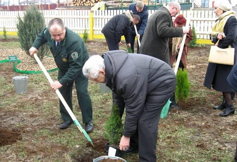 Посадка деревьев в честь Георгия Марковского. Фото с сайта lsto.lesnoi.by