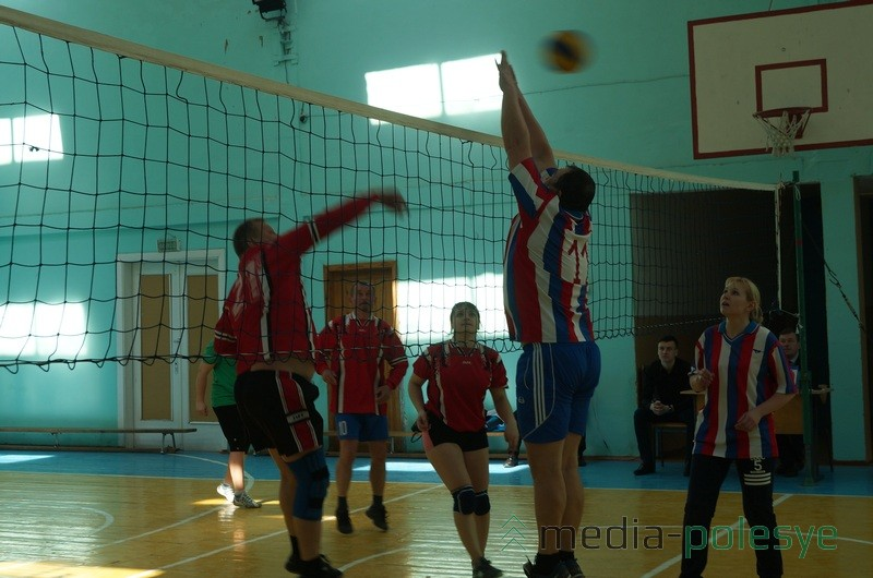Момент финального поедика по волейболу