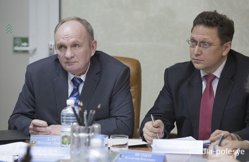 Прокурор Брестской области Виктор Климов и председатель Комитета государственного контроля Брестской области Дмитрий Баско