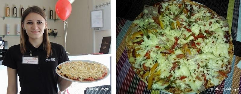 В кафе предлагают пока 10 видов пиццы